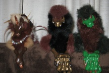 Woodbabies / Made by Midsummer Knight's Dream.  I am currently the proud parent of Cerridwen, Cromm Cruiach, Shayleigh, Ki-Du, Gaothaire, and Miw-sherit.  Plus there is a new arrival, a blue Jhari's cat that hasn't told me her name yet.