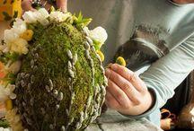 Arrangement fleurs Pâques