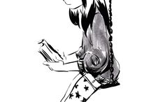 inQ / Illustrations with comic book style inking