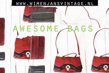 Retro en vintage tas bag shopper  / Unieke items en mooie sfeerfoto's van onze collectie kun je vinden via: Www.wimenjansvintage.nl  Ook via Facebook en instagram te volgen.