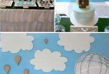 Hot Air Balloon bday theme