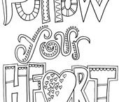 word coloring sheets