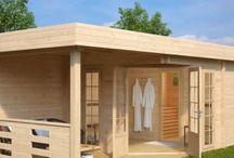 Outdoor Sauna Cabins / Buy a sauna cabin and enjoy SPA in your garden. Premium garden sauna cabins