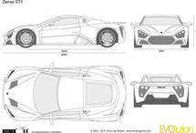 autó rajzok tortázáshoz