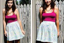 Ladies Flat Front Gathered Skirt
