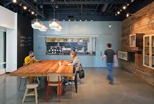 breakout / Work spaces where you can relax, read a book, have a coffee and a chat with your co-workers