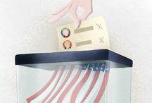 Politics / Illustrations about politics by Sara Gironi Carnevale