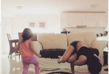 Moms & Babies Exercising Together / Unbelievably adorable pictures of mums that have mastered yoga & exercise with their babies!
