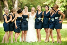W1 (Navy/Neutral) / Color themed wedding inspiration board. / by Helena Watson