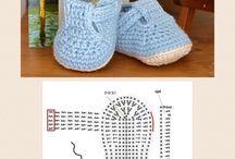 sandálias de crochê