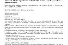 """Aquapol e L'Ordine degli Ingegneri della Provincia di Cuneo organizza: Seminario Gratuito / L'Ordine degli Ingegneri della Provincia di Cuneo in collaborazione con Aquapol organizza il Seminario gratuito: """"Risanamento definitivo degli edifici interessati dall'umidità. Strumenti conoscitivi per effettuare una diagnostica corretta"""". Scarica SCHEDA ISCRIZIONE: https://drive.google.com/file/d/0B4OXljU9ooQuTGRXWWVlUkhmSU0/view?usp=sharing"""