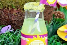 Bottle labels and cup decor