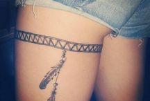 Thigh band tattoo