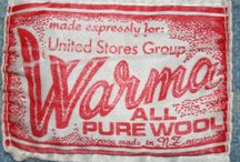 Vintage Wool Blanket Labels / Vintage labels for wool blankets from New Zealand