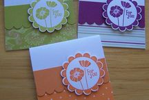 Stampin' Up! Mini Note Cards / Mini note cards are great for tucking into lunchboxes, coworkers' mail boxes, or to use as gift tags!  A set of 3-5 mini notecards with matching envelopes also makes a great gift!