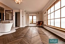 Chevron pattern / A bunch of our achievements! #Hardwood flooring or engineered flooring, all types of wood look good in #herringbone. Inspired by the old #Europeanstyle, this #pattern is a must.