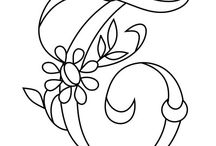 Embroidery. - monograms / These are brilliant, outline initials for bag tags etc