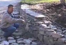 ukázky stavení zídek z kamení