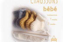 Chaussons de bébé - Tricot
