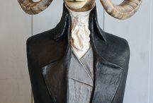 Papier mâché sculptures / sculptures en papier mâché www.melaniebourlon.com