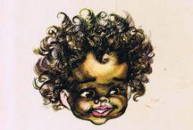 Books, comics and aboriginal illustration / Australian Aborigines