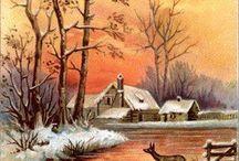 snow landscape-paysage