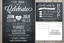 Chalkboard Wedding Invites / Wedding Invitations