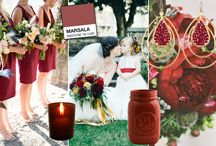 Marsala wedding / A board for you planning your wedding in marsala the Pantone color of the year 2015.