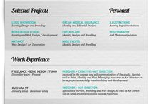 Graphic Design: Self Promotion ideas / Ideas for a Self Promotion: cv, flyers,...