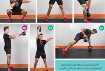 Kettle Bell / Kettle bell exercises / by FitGirlsRock Melissa Shevchenko