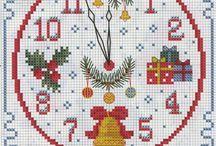 punto croce - orologi -