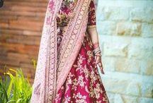 real bride lehenga colours
