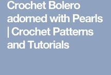 Bolero with pearls