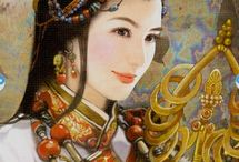 Oriental/Chinese Tarot Cards / A beautiful selection of Oriental/Chinese Tarot cards.