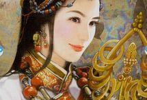 Oriental/Chinese Tarot Cards / A beautiful selection of Oriental/Chinese Tarot cards.