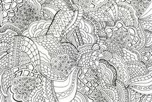 Värityskirja & muuta puuhajuttuja / Printable colouring sheets mostly.
