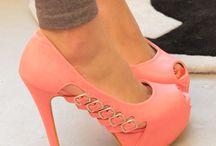 Shoes, Peach, Salmon, Pale Pink