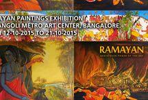RAMAYAN PAINTINGS EXHIBITION AT RANGOLI METRO ART CENTER, BANGALORE. FROM 12-10-2015 TO 21-10-2015 / RAMAYAN PAINTINGS EXHIBITION AT RANGOLI METRO ART CENTER, BANGALORE. FROM 12-10-2015 TO 21-10-2015 Rangoli Metro Art Center MG Road Boulevard, beside MG Road Metro Station, near Anil Kumble Circle, MG Road, Shivaji Nagar, Bengaluru, Karnataka 560001