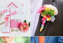 Bright colored wedding