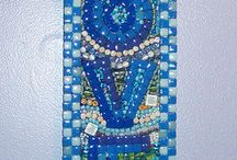 Mosaic pattern for a beach look in bedroom or garden