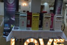 Wedding Postboxes / Our Full Range of Wedding Postboxes and Pillarboxes, including a Wish Tree and a VINTAGE SUITCASE