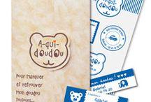 SOS Doudou perdu ! / La solution pour les doudous perdus, le pack A-qui-Doudou : 5 étiquettes personnalisées pour marquer le ou les doudous. Plus jamais perdu, toujours retrouvé !