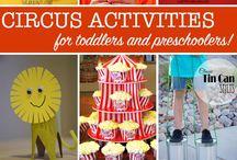 Circus Crafts / Manualidades Circo / Ideas creativas para manualidades sobre el circo.