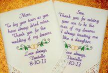Mother of the Bride & Groom Wedding Handkerchiefs