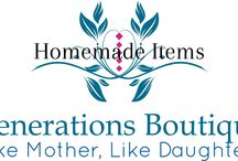 Generations Boutique /  Shop filled with homemade items You can find us on Facebook & Etsy