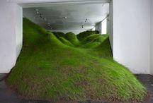 green - greenery - plants / interior