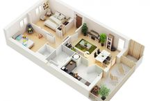 Two Bedroom House/Apartment Floor Plans