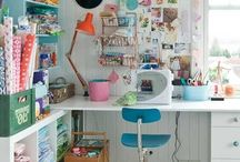 Craft corner / I migliori piccoli spazi per creare: dal web a casa mia.