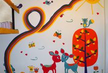 children's room decoration / decorative wall paintings