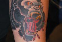 Gorilla Tattoo ( Right Forearm )